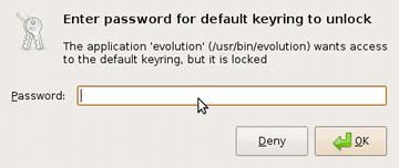Gnome unlock keyring dialog