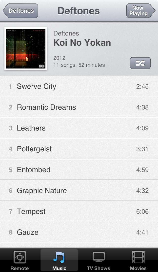 Album on iOS 6