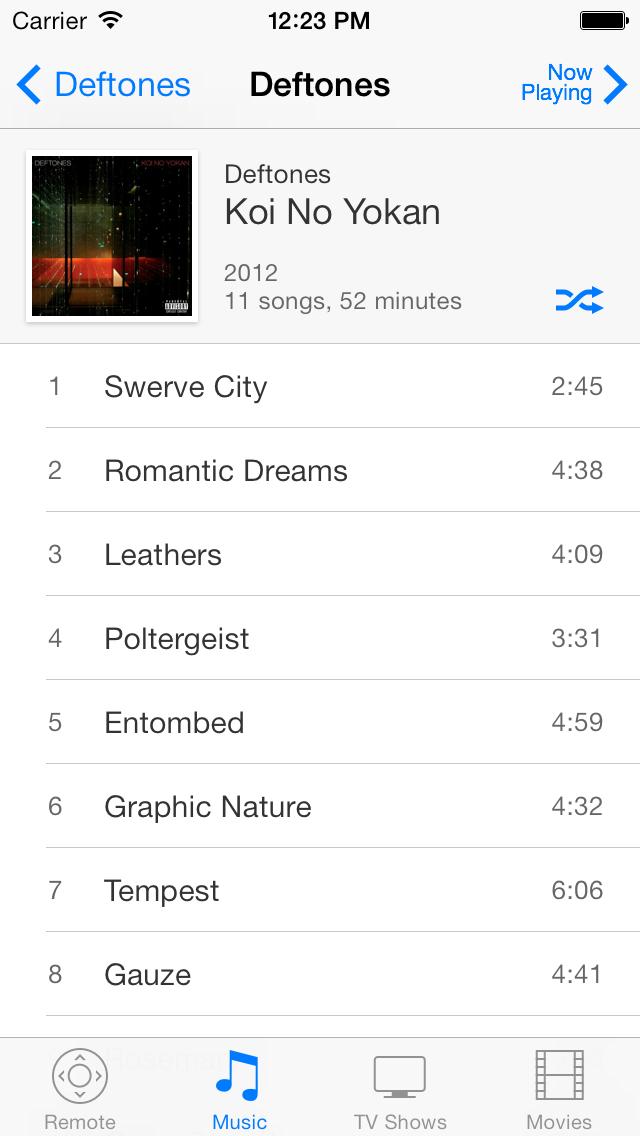 Album on iOS 7