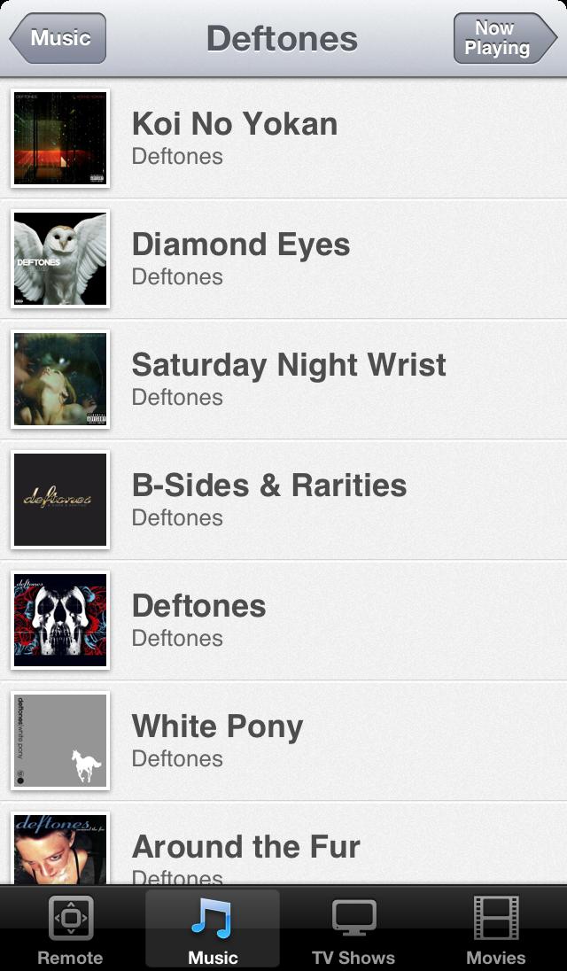 Albums on iOS 6