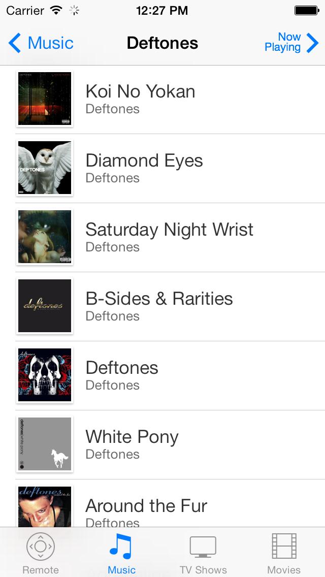 Albums on iOS 7