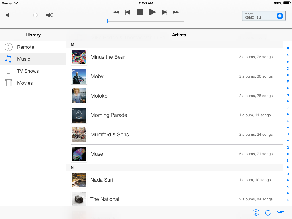 Artists on iOS 7