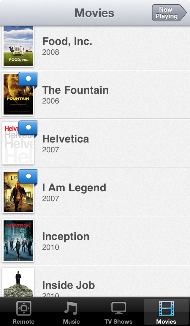 Movies on iOS 6