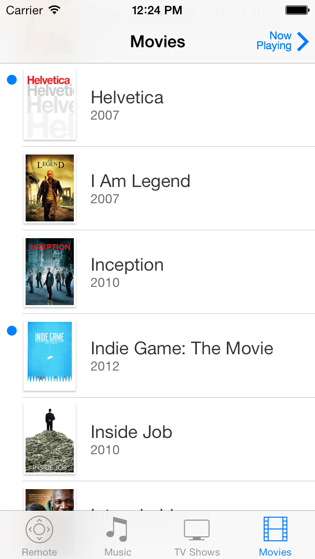 Movies on iOS 7