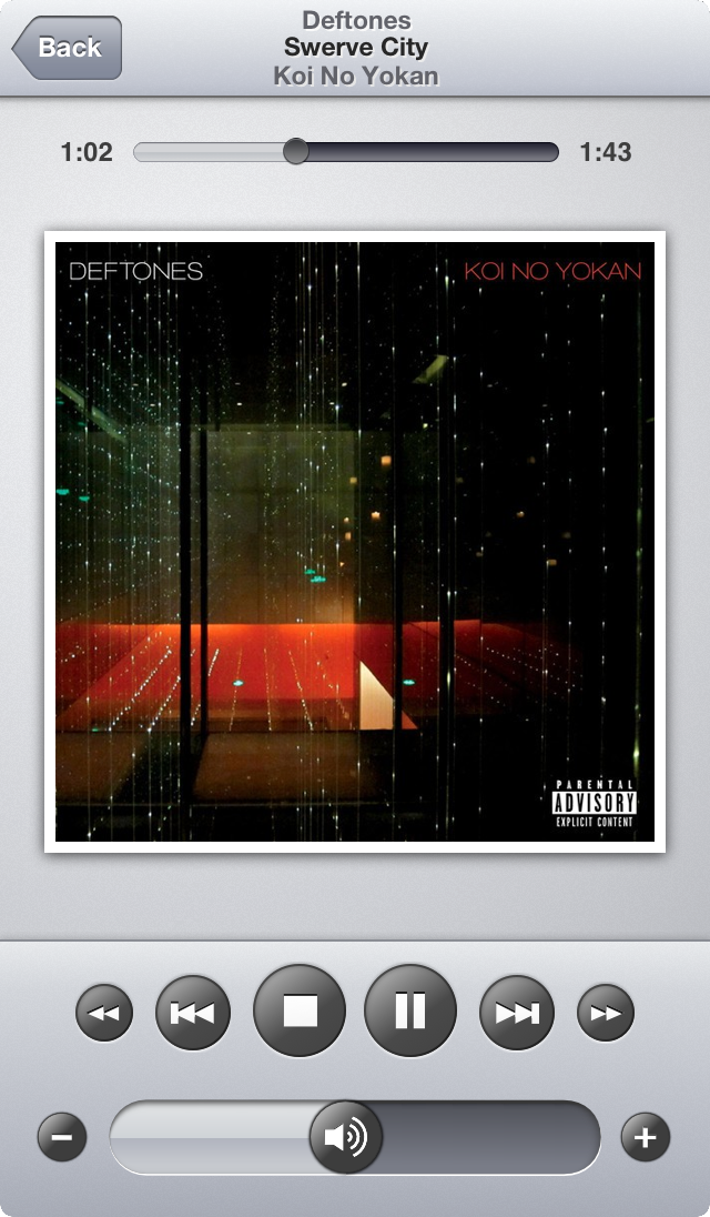 Now playing on iOS 6