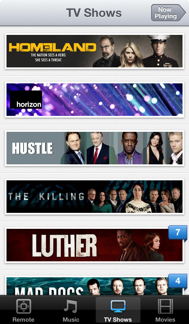 TV Shows on iOS 6