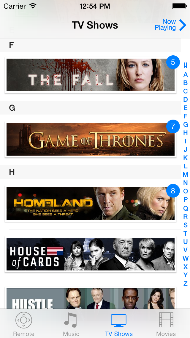 TV Shows on iOS 7