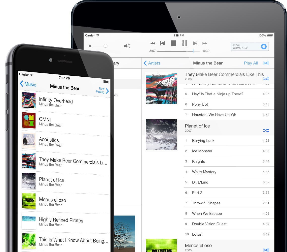 Music library support